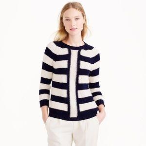 J.Crew Mixed striped sweater